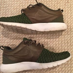 Olive and Brown Leather Nikes sz 10